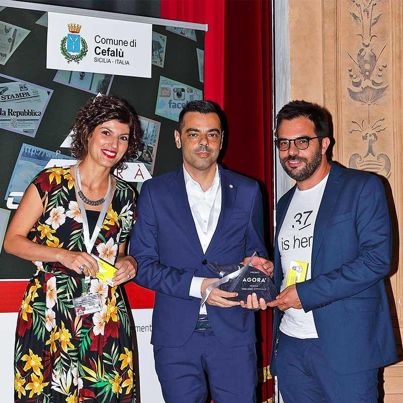 Premio Agorà 2019 - Cefalù Michela Seu, Giancarlo Murgia, Michele Palla